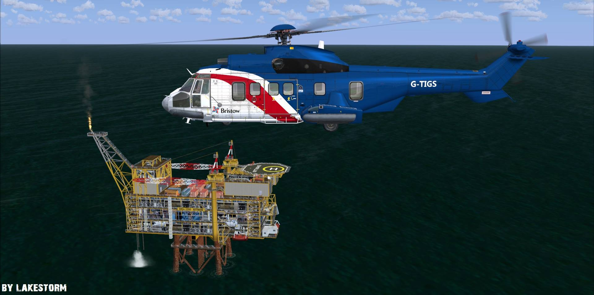 Custom Oil Rig 3D Model – LAKESTORM